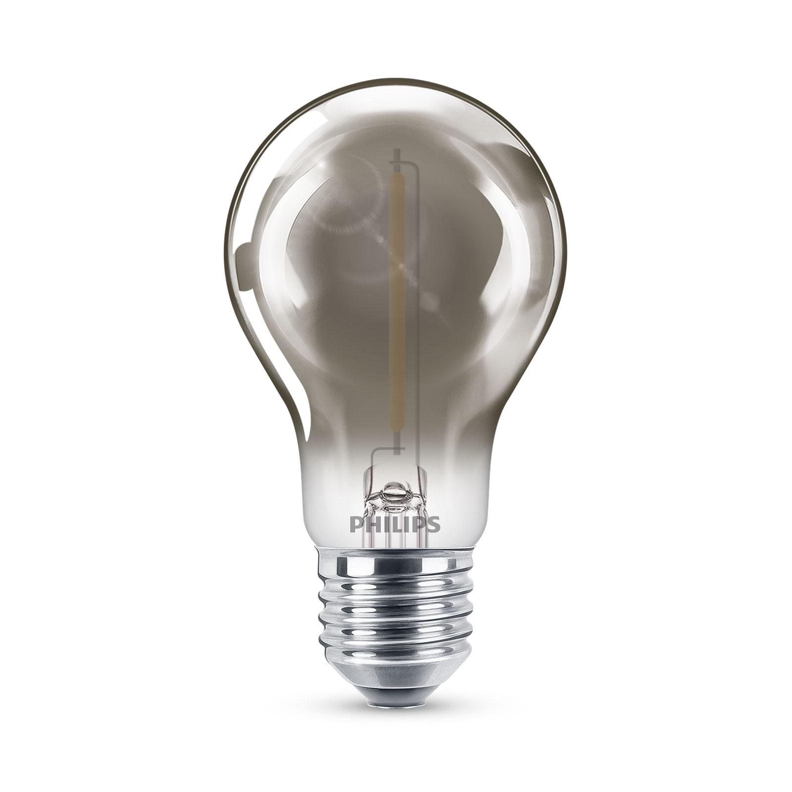 Philips Classic LED lamp smoky E27 A60 2,3W