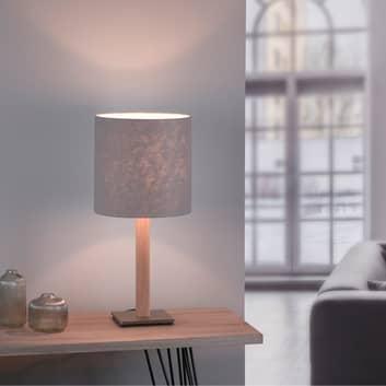 Lucande Elif bordlampe, filt, kantet, eg natur
