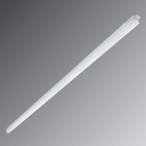 Avlång LED-bänklampa Eckenheim i vitt