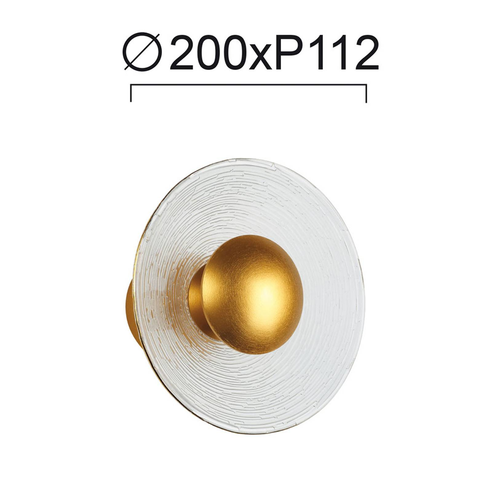 LED wandlamp Glamour van glas