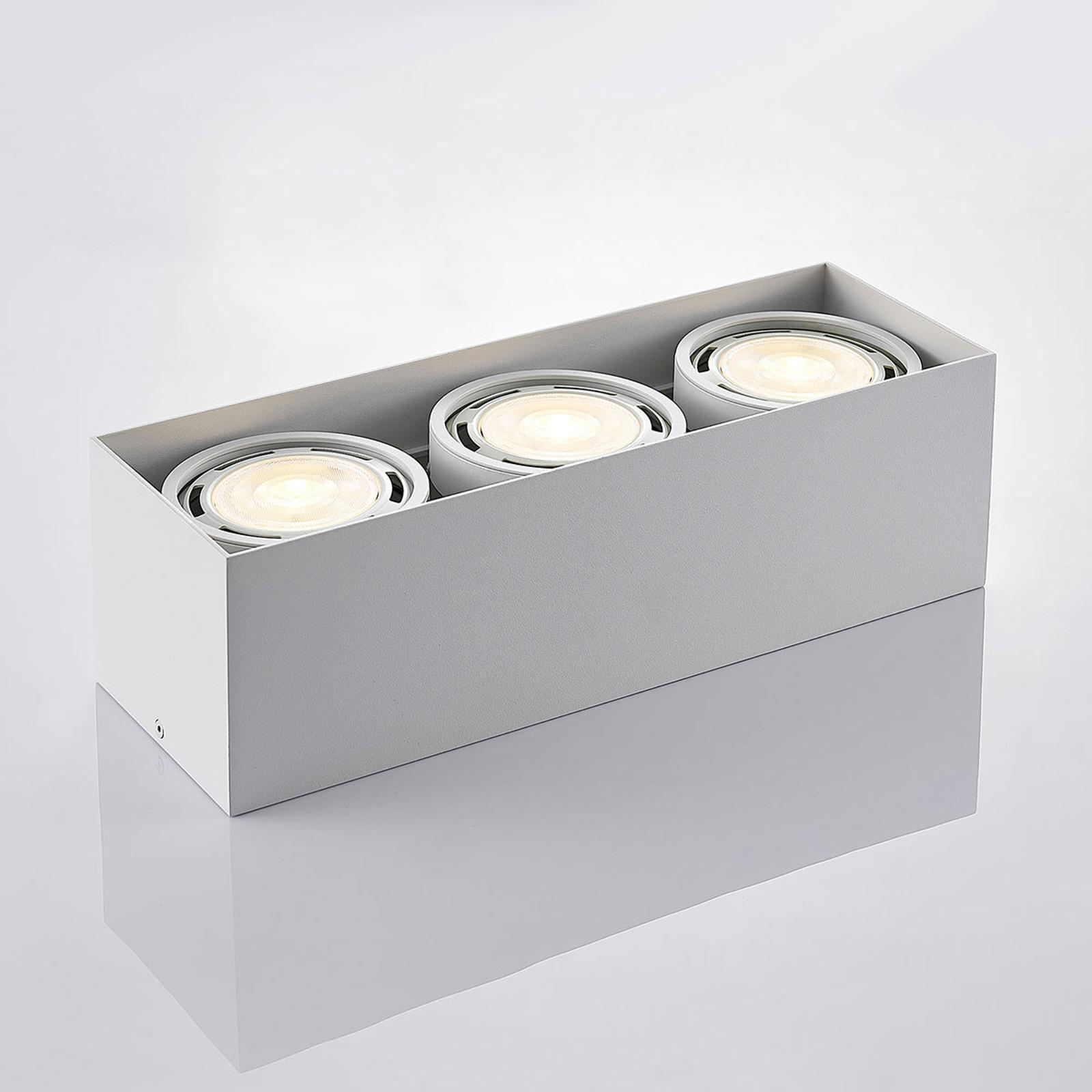 LED downlight Rosalie 1 lampa kantig vit | Lamp24.se