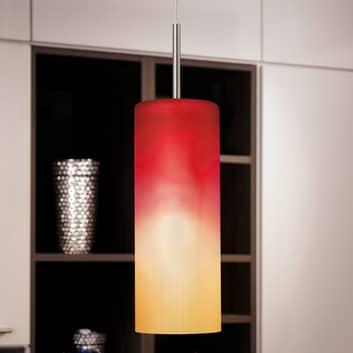 Lámpara colgante atractiva TROY en rojo y naranja