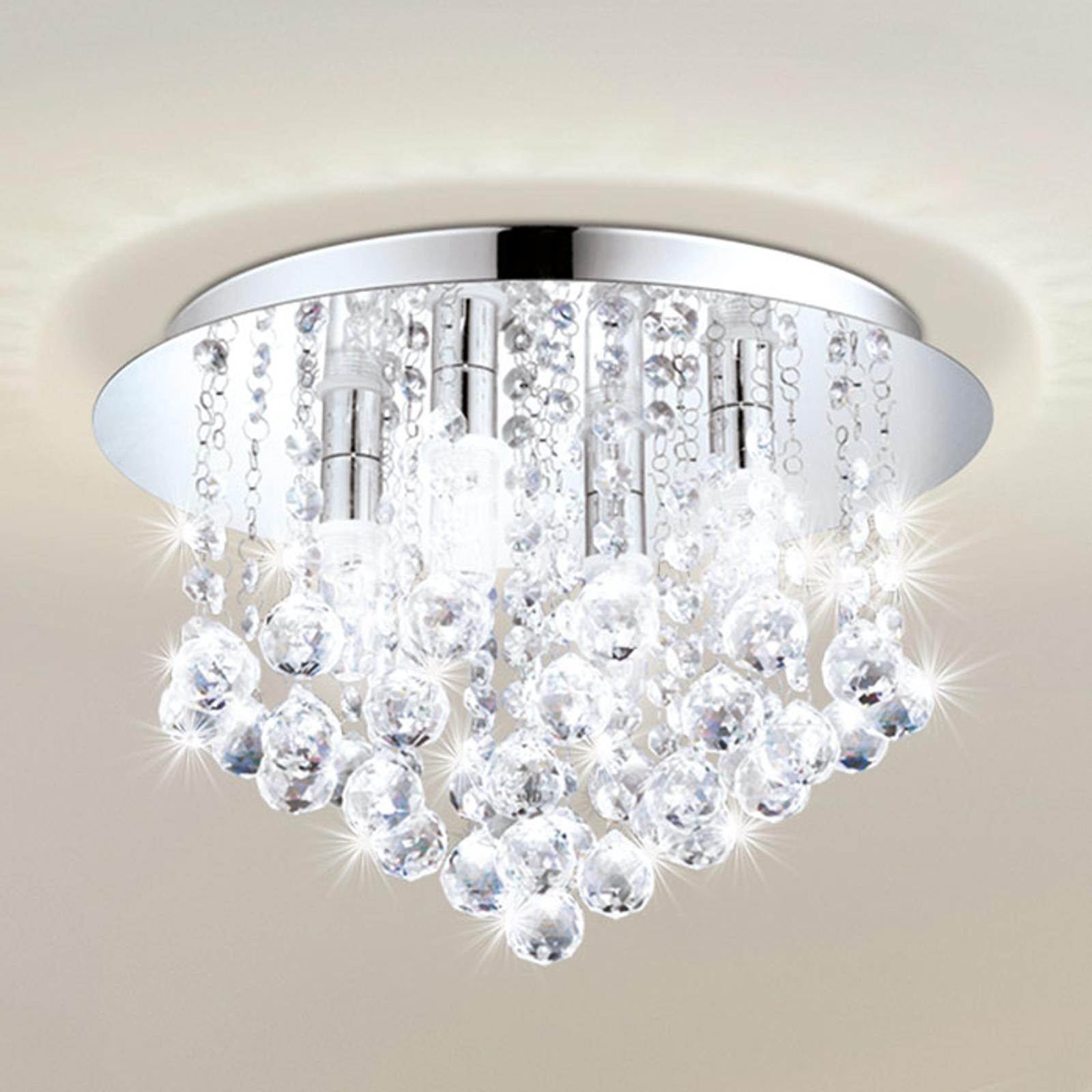 LED-Deckenleuchte Almonte mit Behang, 50cm
