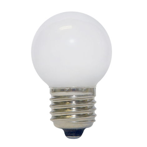 LED-Golfball-Lampe E27, 0,7W, warmweiß, matt