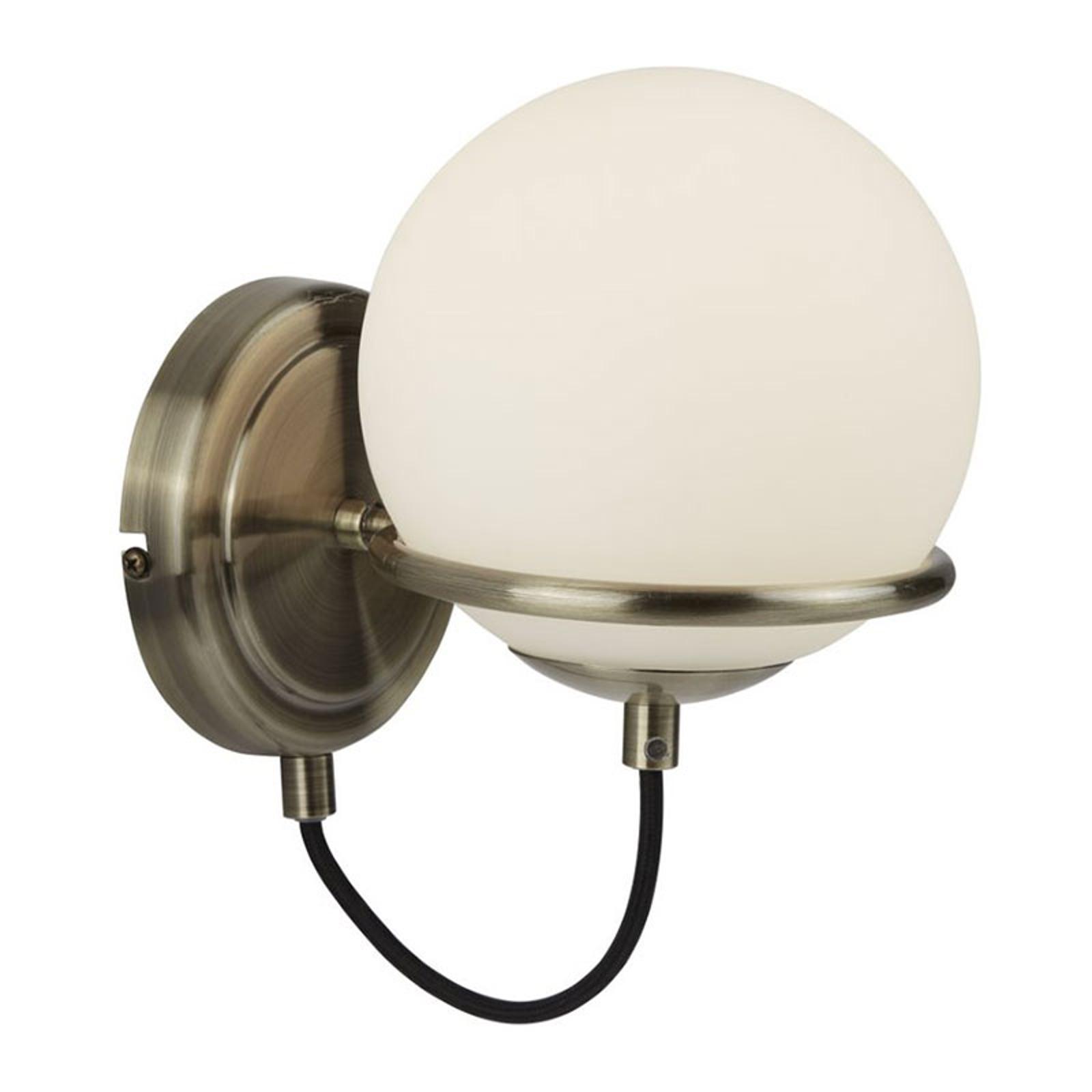 Wandlamp Sphere met bolkap van glas