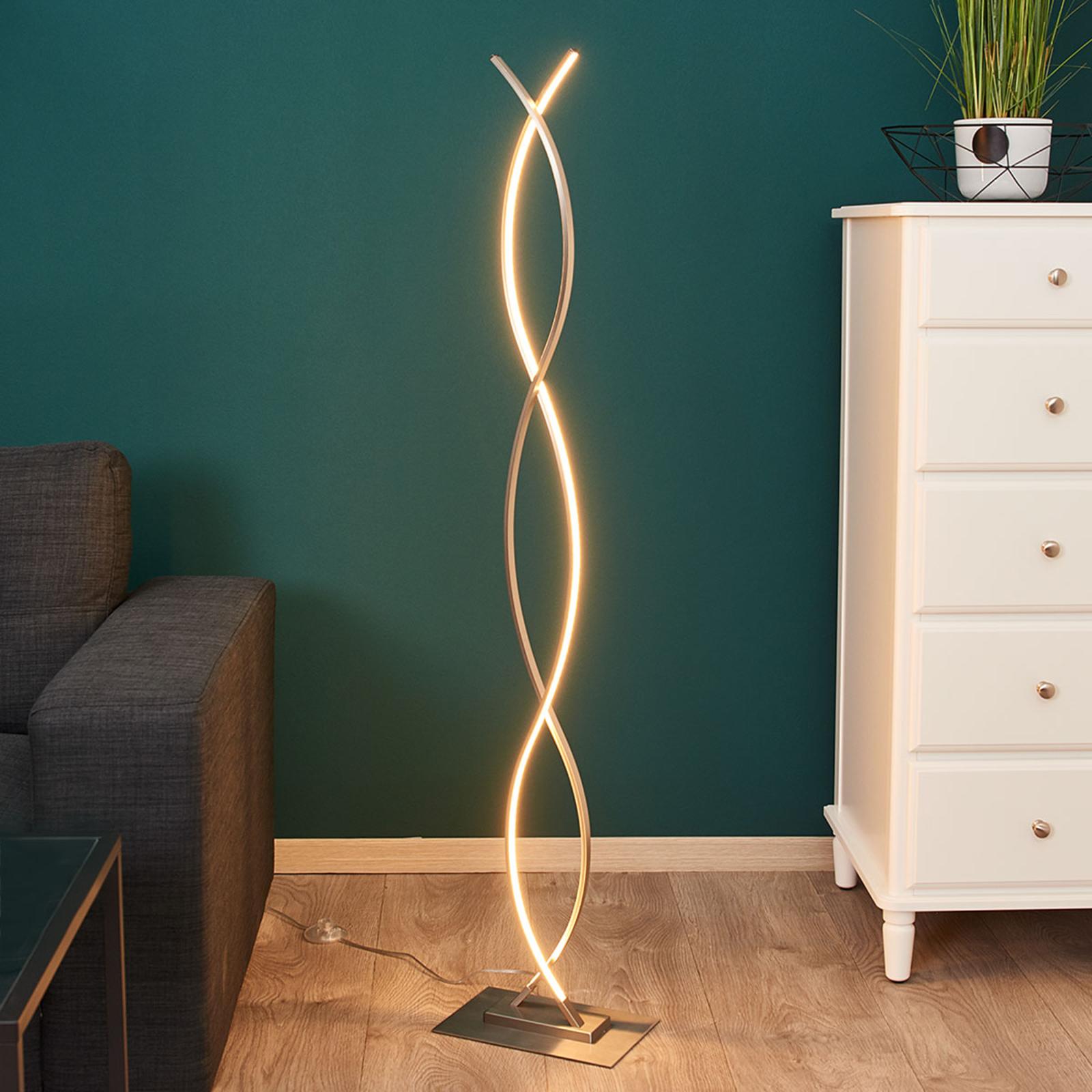 Geschwungene LED-Stehlampe Bobi