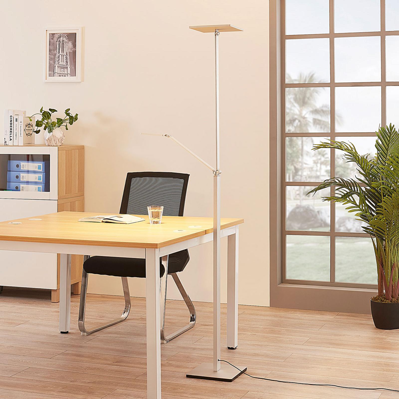 Vierkante LED uplighter Jernika met leeslamp