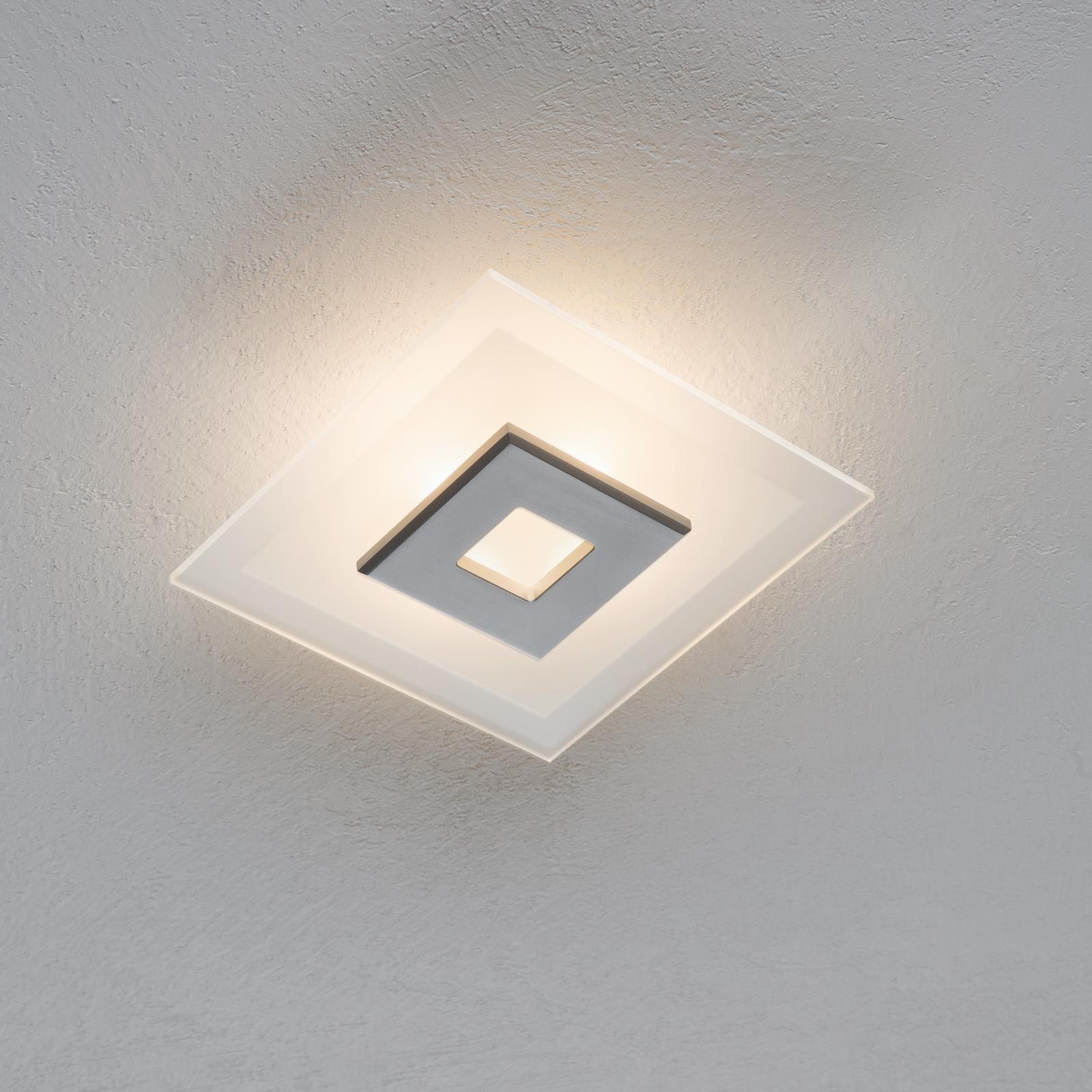 LED plafondlamp Tian met glazen kap, 25 cm