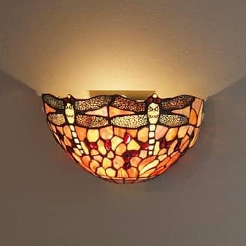 Vägglampa LIVELLA i Tiffanystil