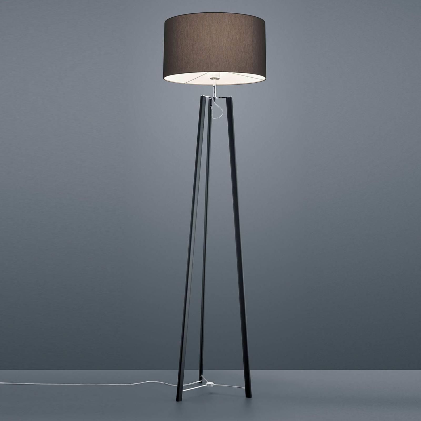 Helestra Certo driepootvloerlamp, antraciet