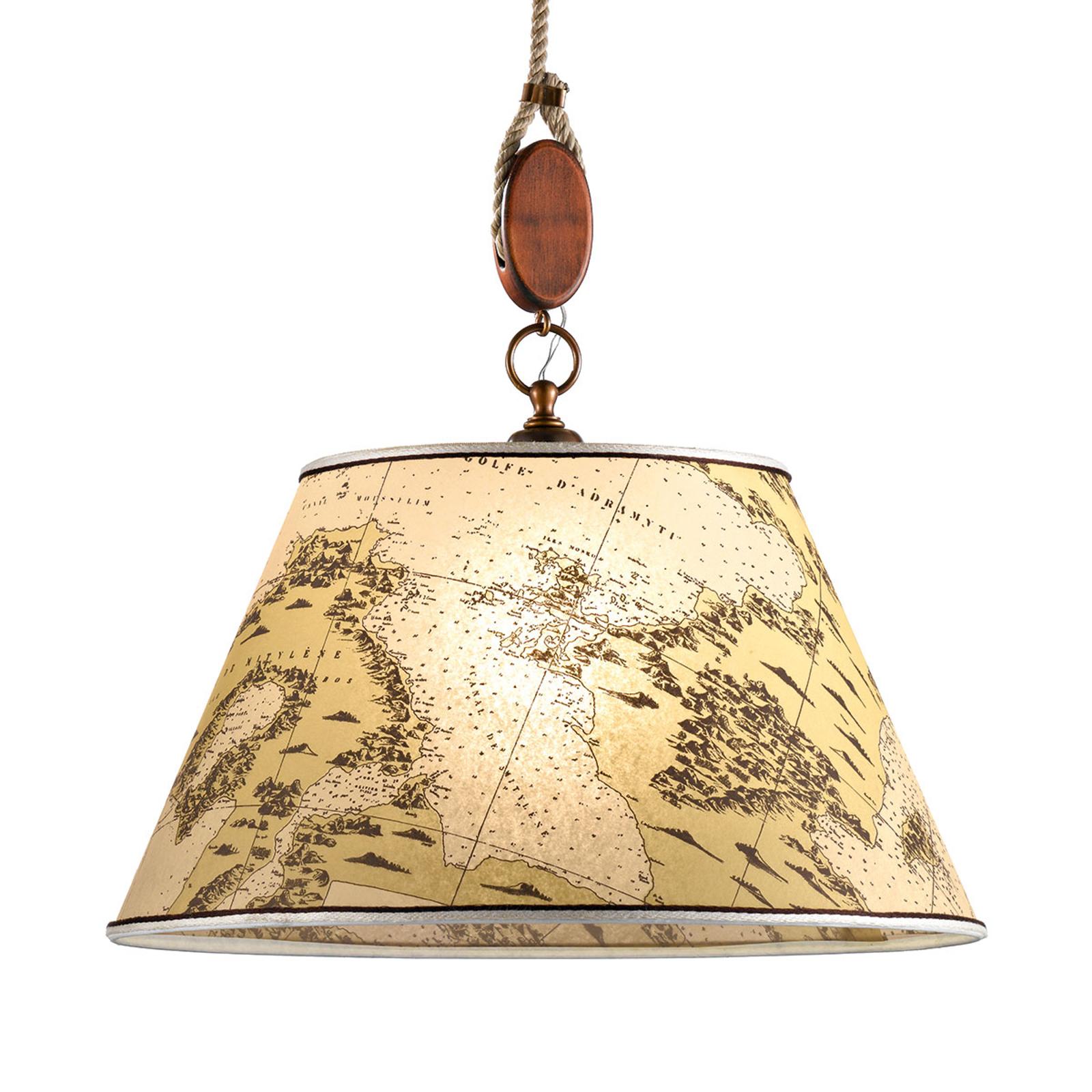 Klasyczna lampa wisząca Nautica 40 cm