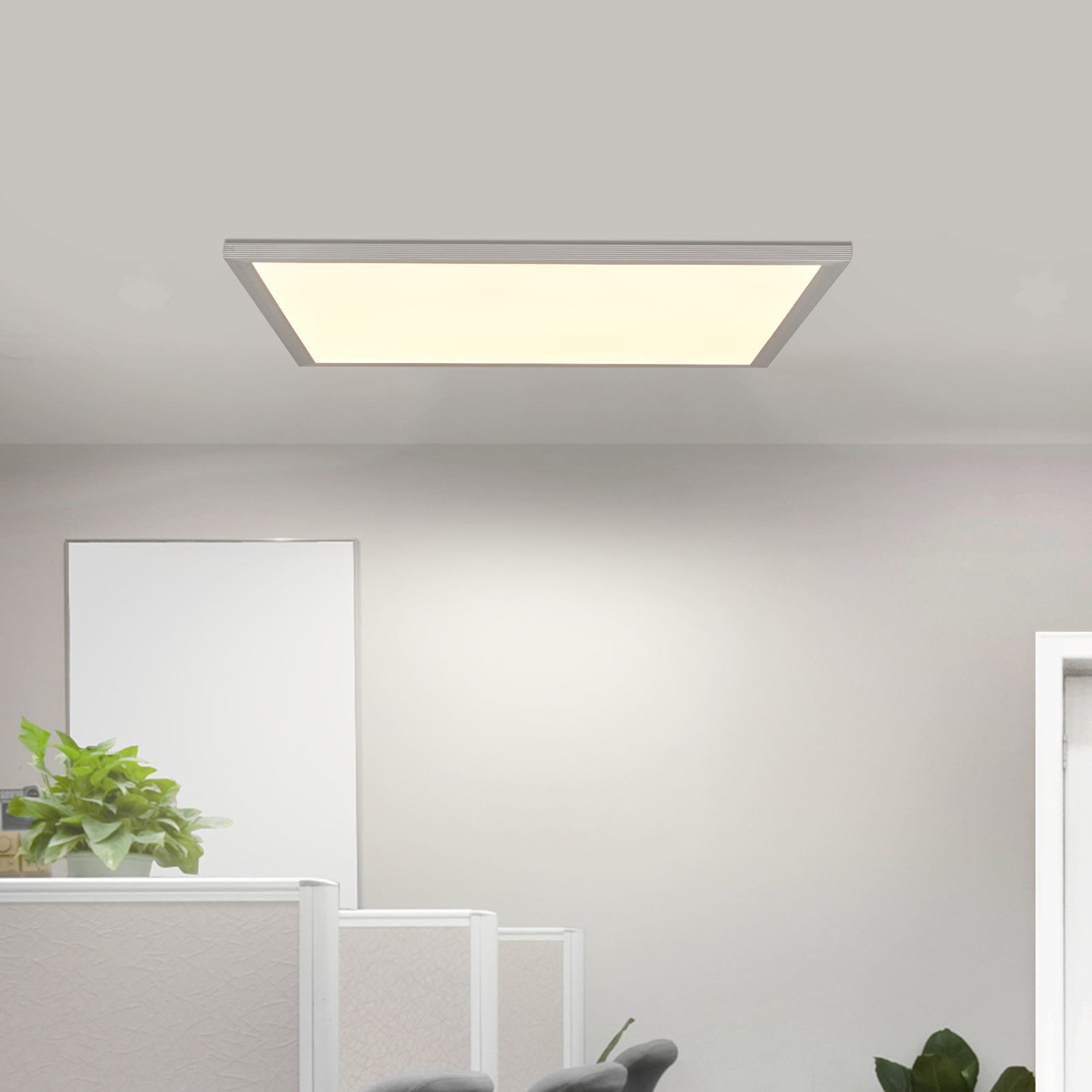 Quadratisches All-in-One-LED-Panel dimmbar 3.800 K