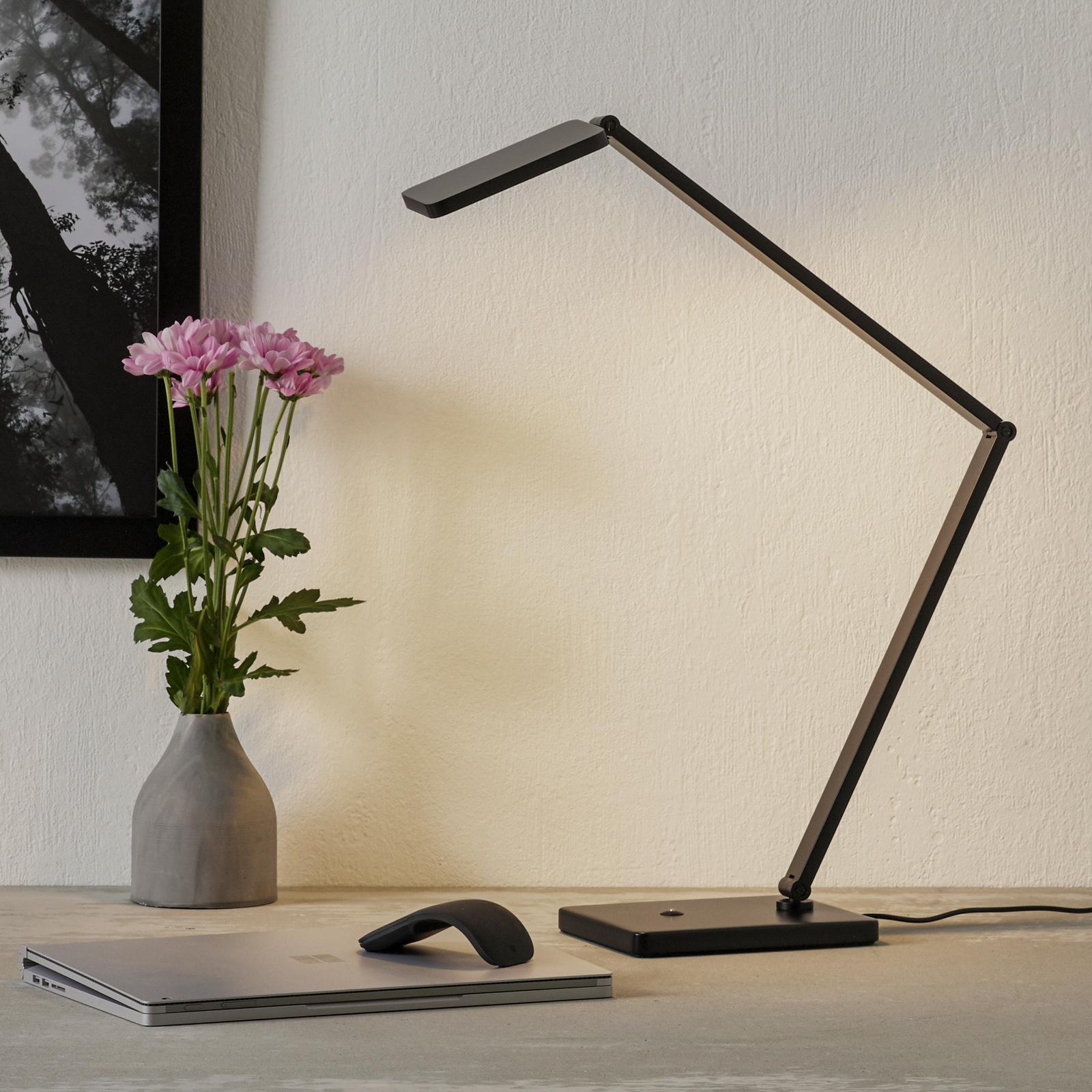 Lampe de bureau LED Linus réglable, noire