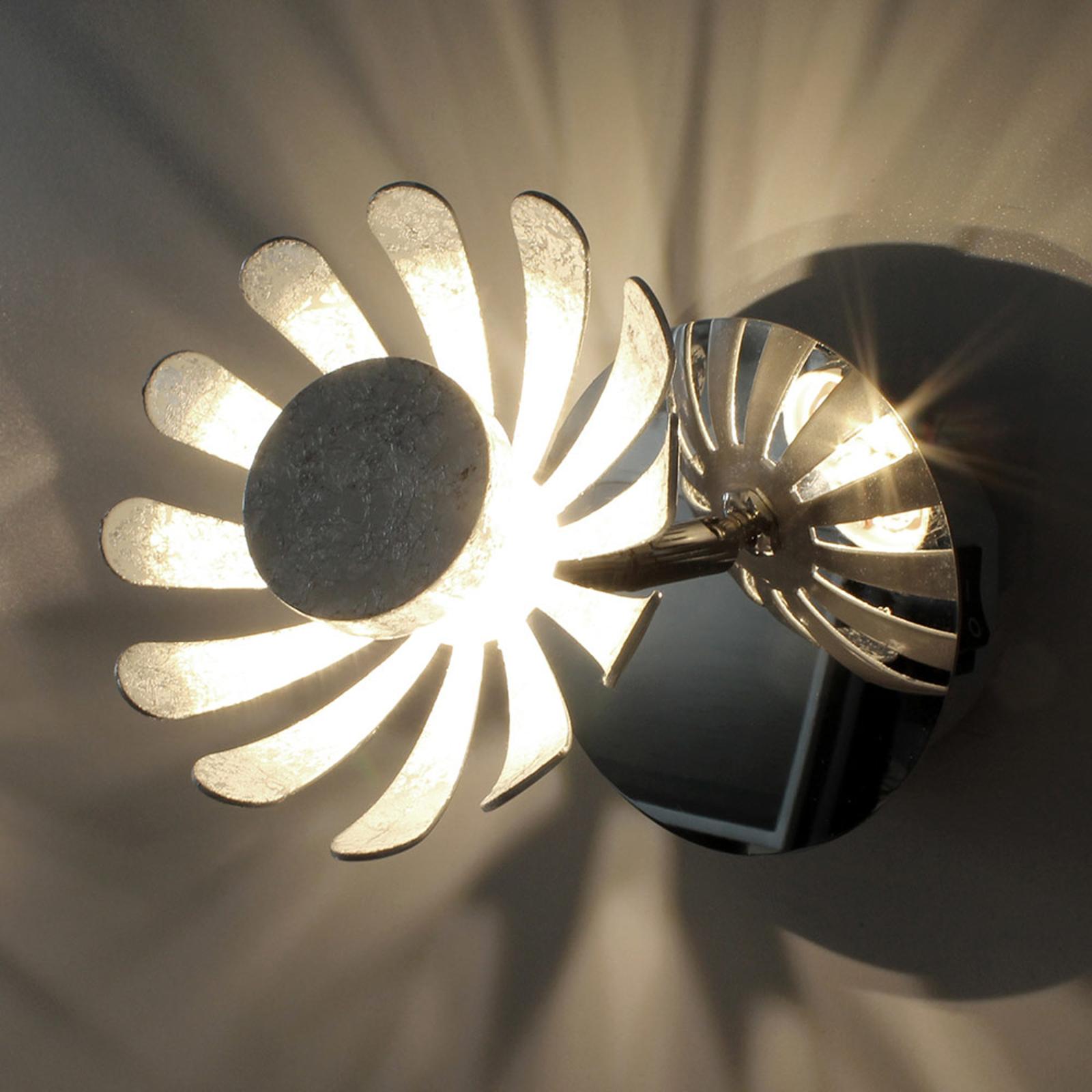 LED-Wandleuchte Bloom silber