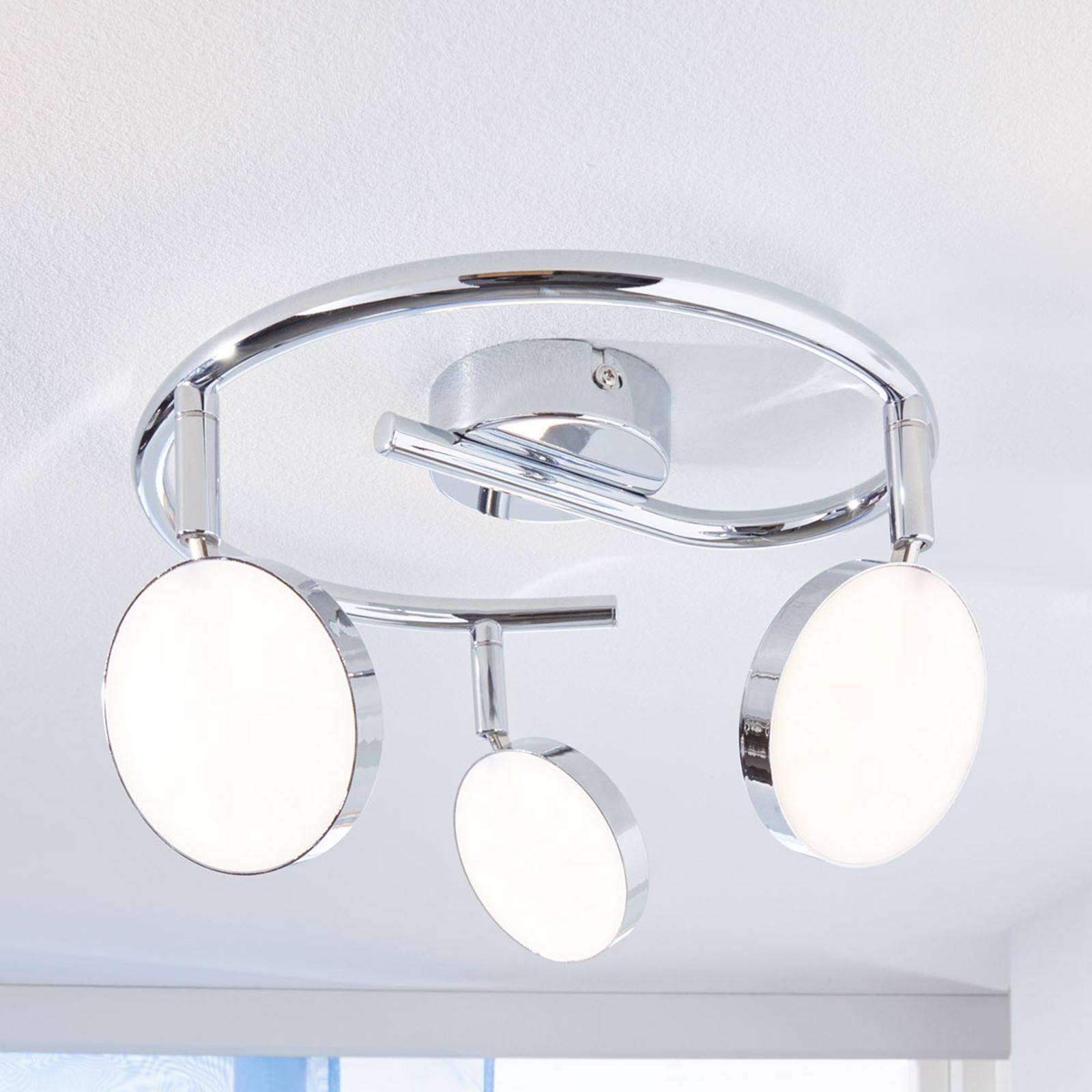LED-takspot Keylan, 3-lyskilder, rund