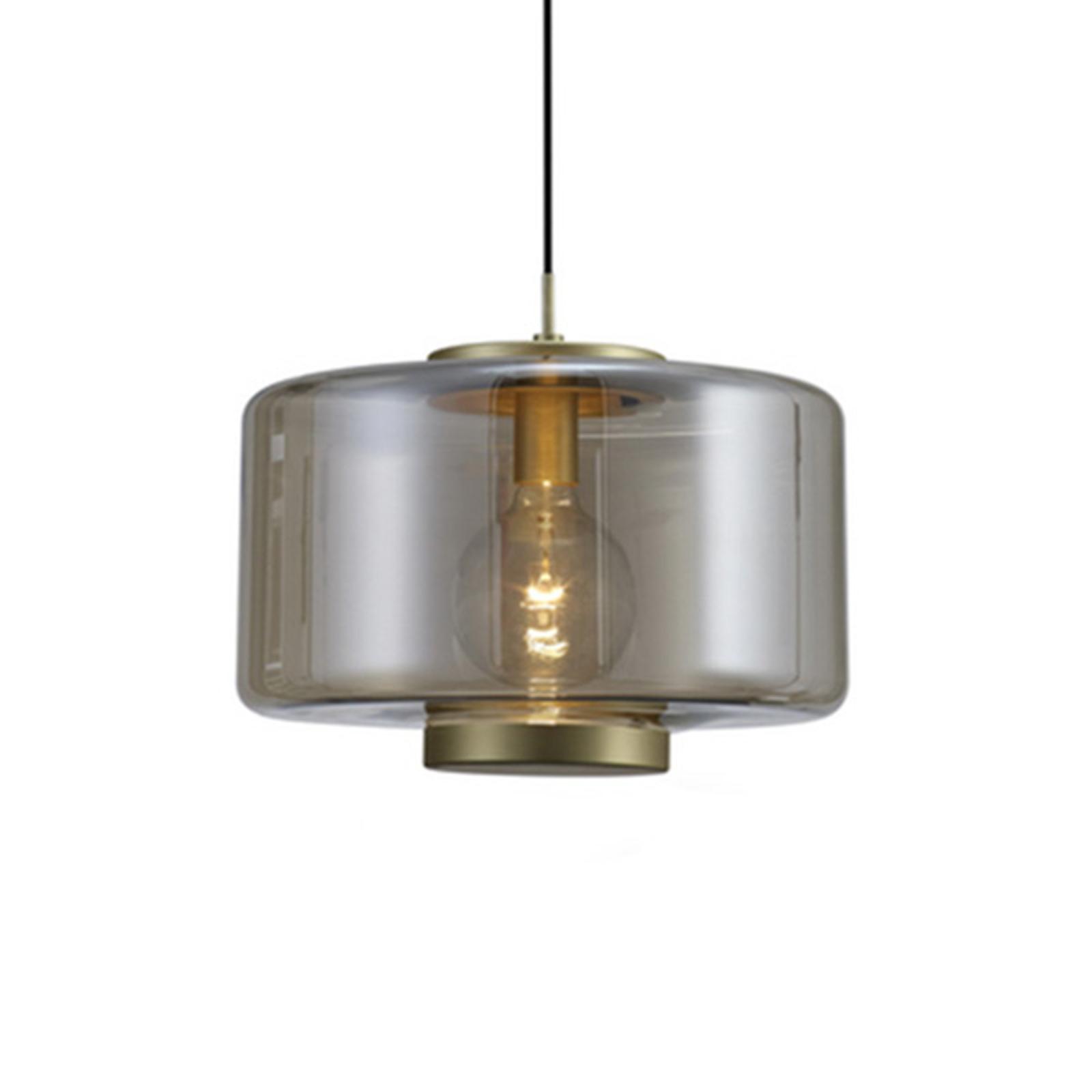 Lampa wisząca Jarras ze szkła Ø 40 cm, brąz