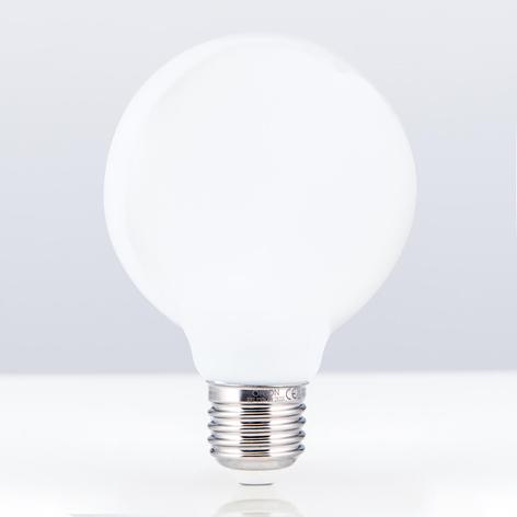 Compra Bombilla LED globo medio mate E27 8W blanco cálido