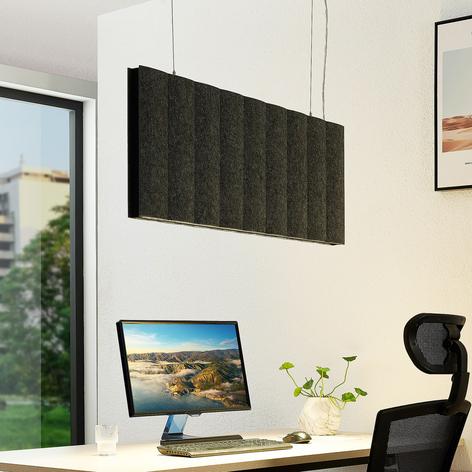 Arcchio Faoma LED-Office-Pendellampe, Filz grau