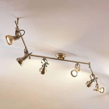 LED-taklampa Perseas, GU10 LED, 6 ljuskällor