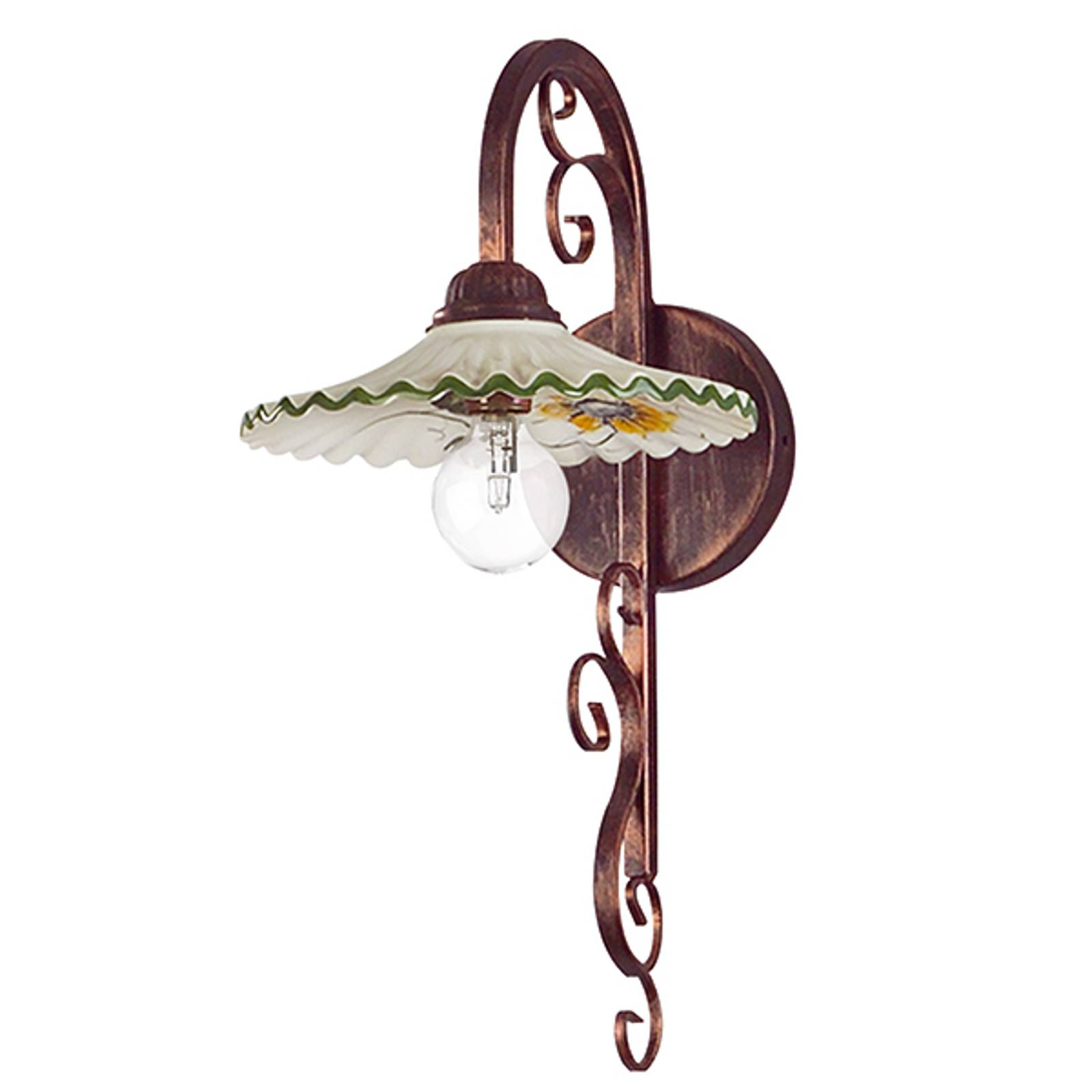 Wandlamp Rusticana, frame koper