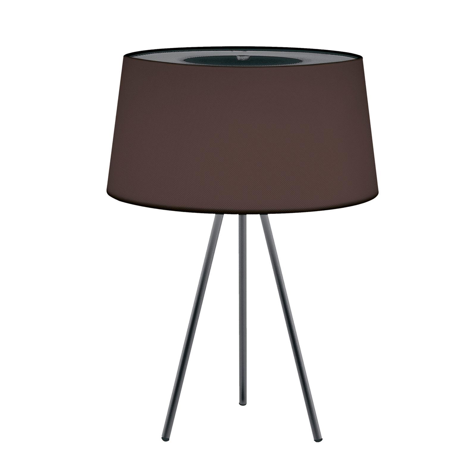 Kundalini Tripod lampa stołowa mokka/szara