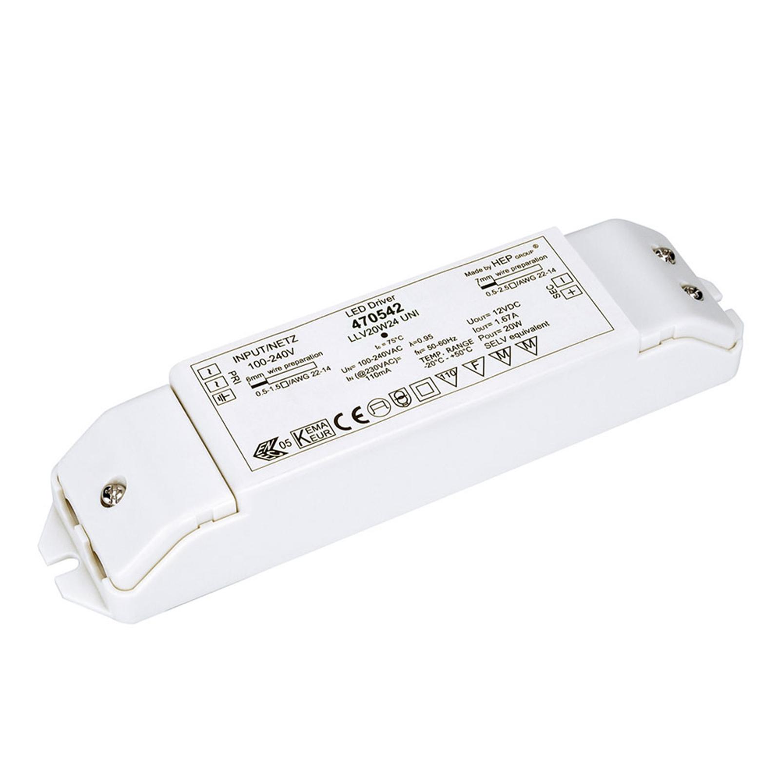 Transformateur LED 20 W, 24 V