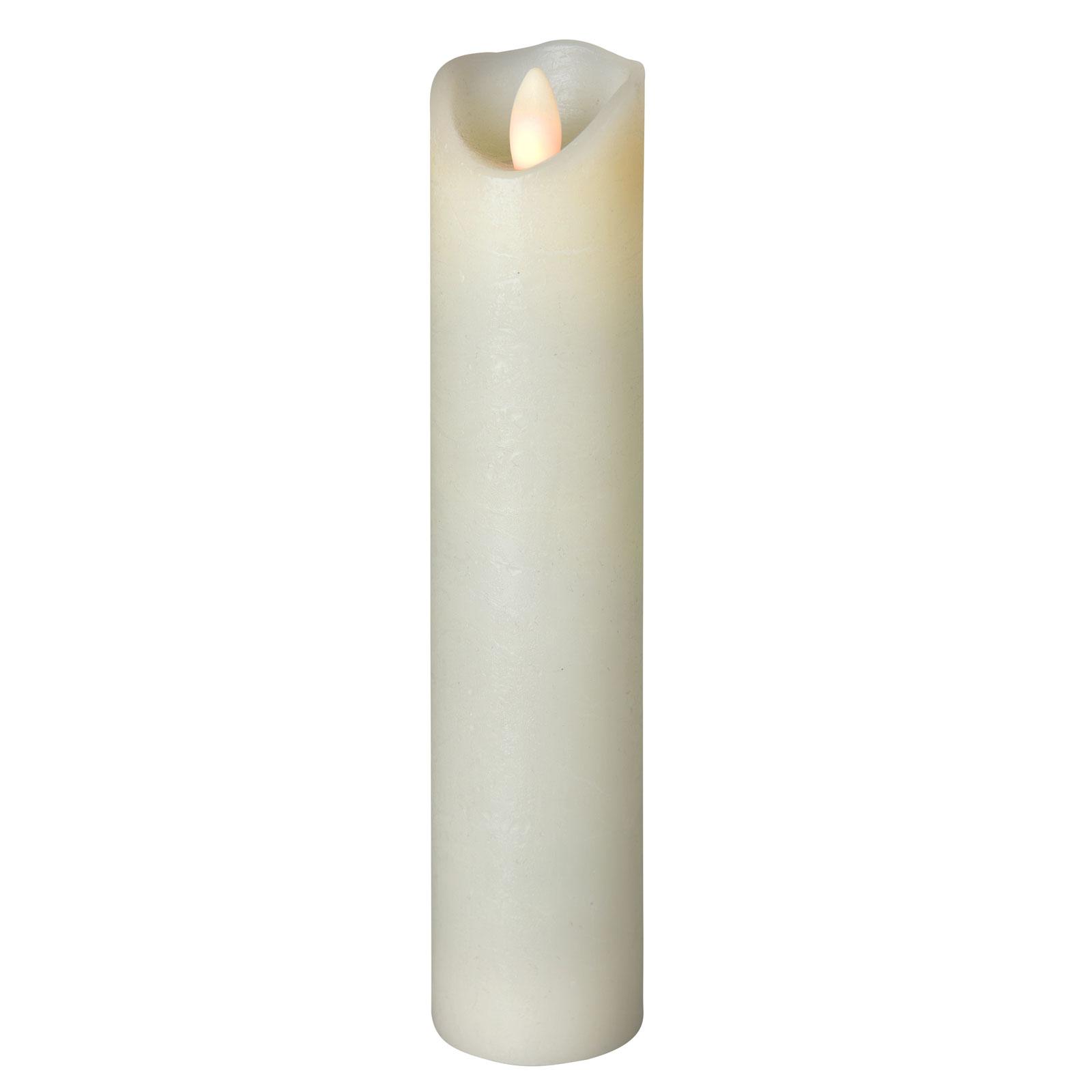 LED-Kerze Shine, Ø 5 cm, elfenbein, Höhe 22,5 cm