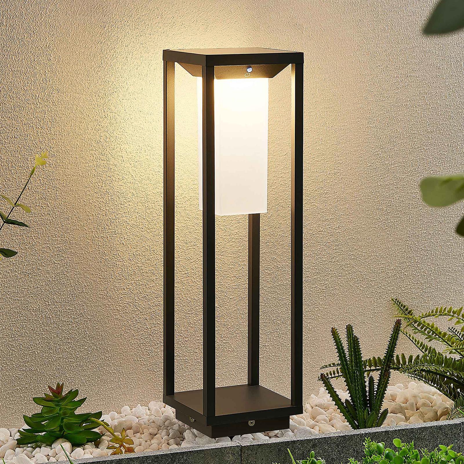 Lucande Eliel solarna lampa cokołowa LED, 50 cm
