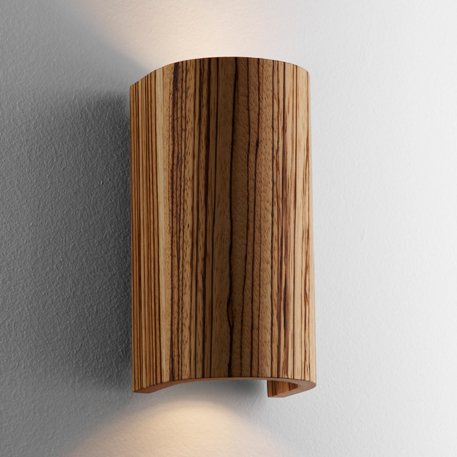 Vakker Tube Zebrano vegglampe 17,5 cm