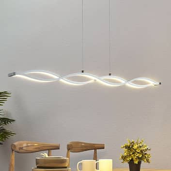 LED-hengelampe i bjelkeform Roan, bølgeformet