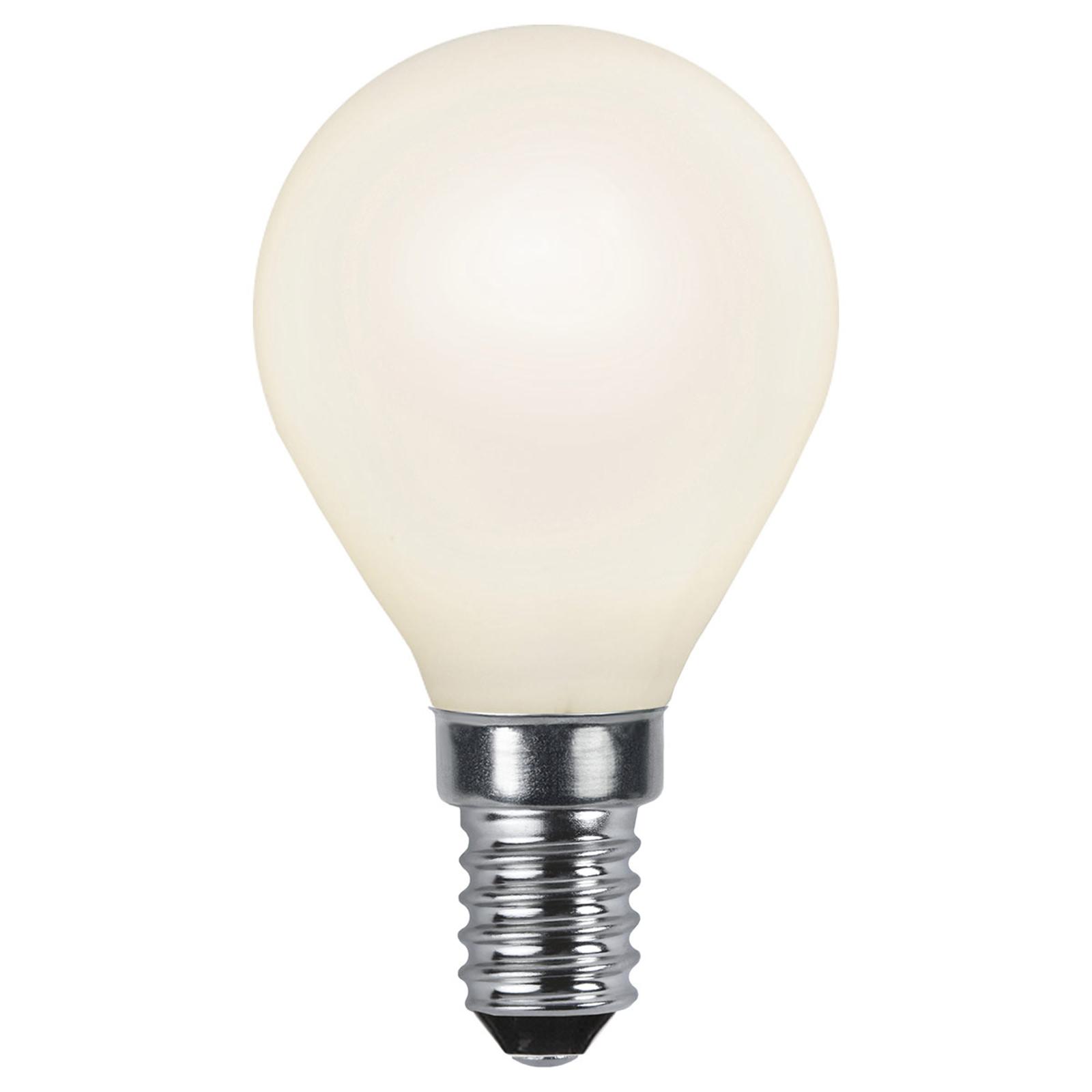 Ampoule goutte LED E14 2700K opale Ra90 3W