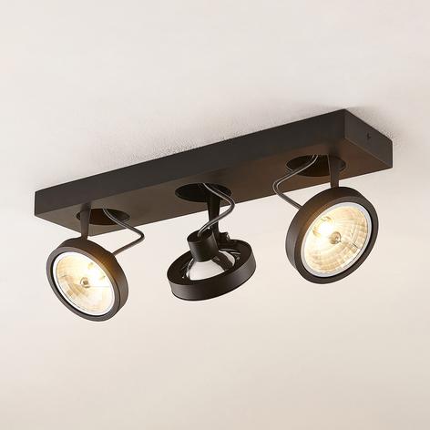 Arcchio Jorvin plafonnier à 3 lampes noir