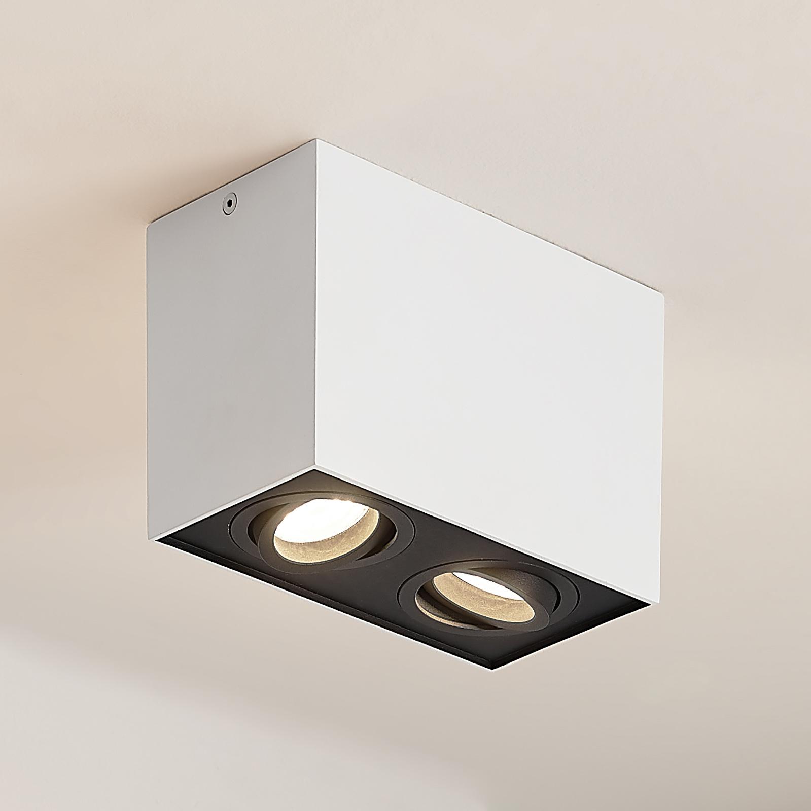 Arcchio Hermalina taklampe, kantet, 2 lyskilder