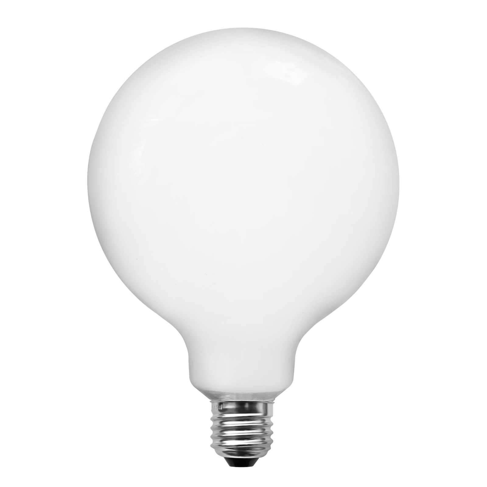 Lampe LED globe E27 4W G95 opale à int variable