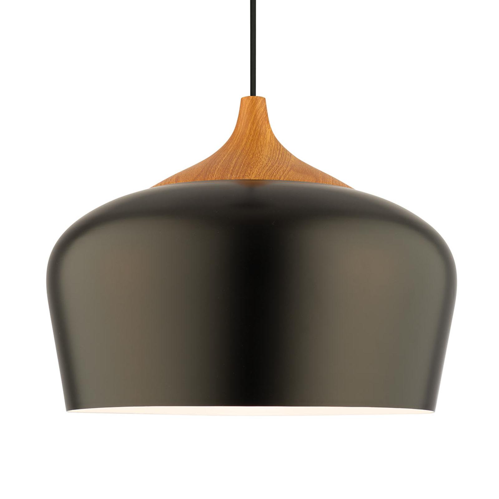 Metalen hanglamp Voltige in zwart