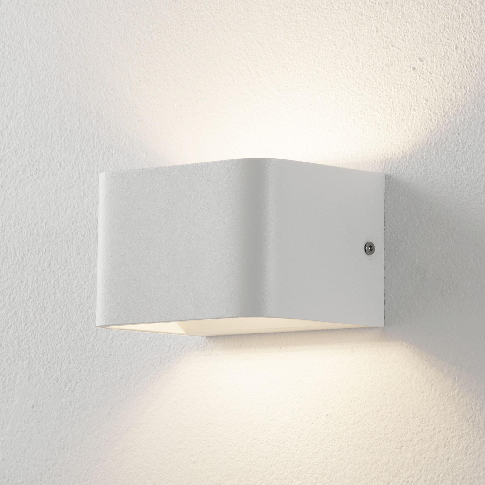 Lucande Sessa LED wandlamp 13cm wit