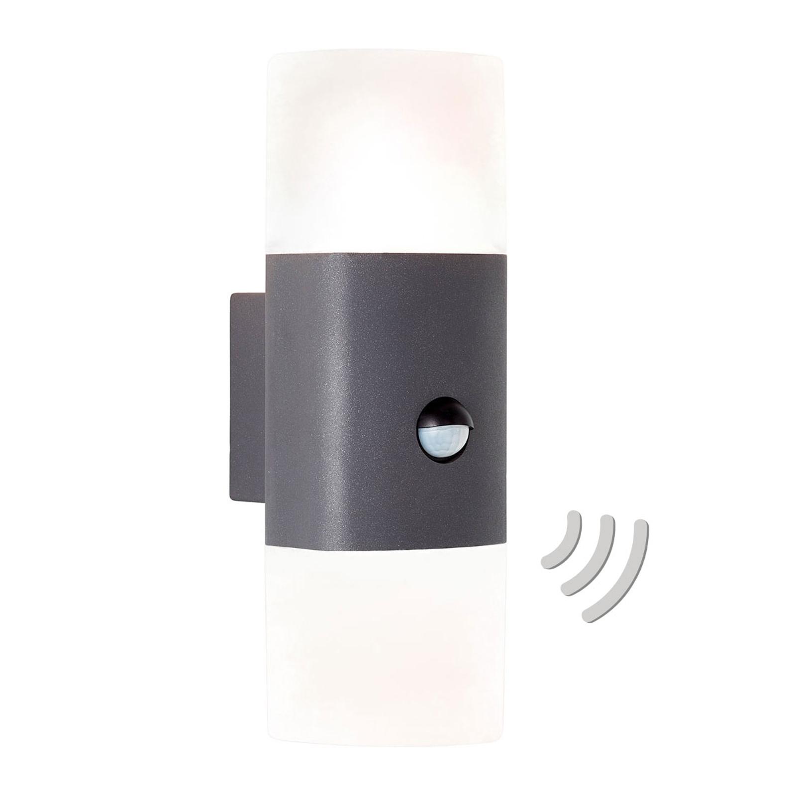 AEG Farlay utendørs LED-vegglampe 2 kilder sensor