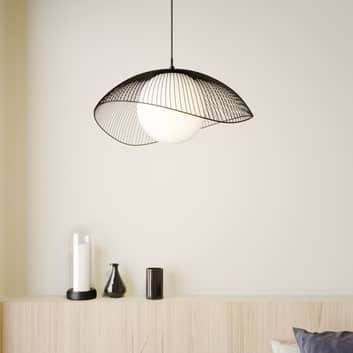 Lindby Fabronia hanglamp, rooster, glasbol