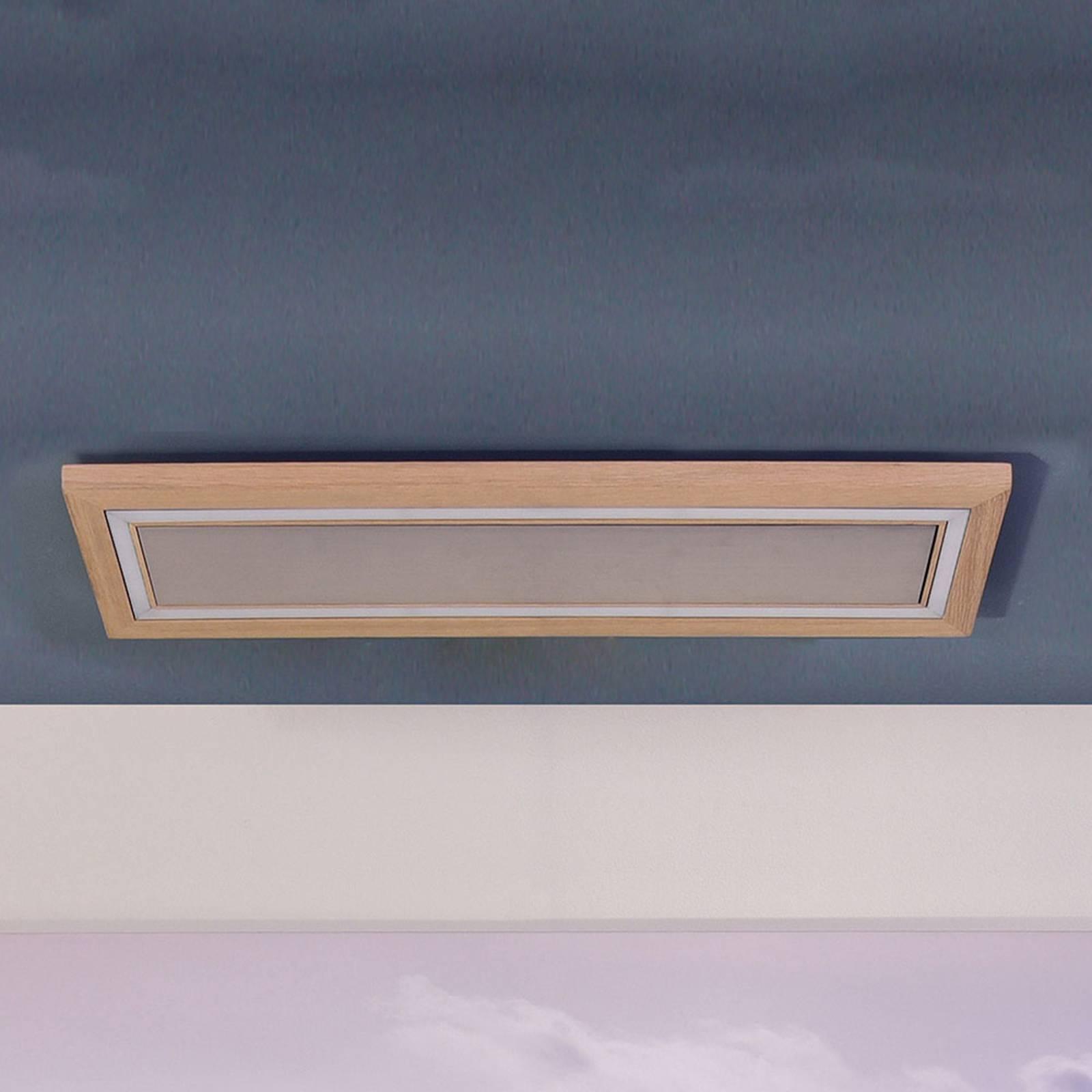 HerzBlut Otto O plafondlamp rechthoek eiken natuur