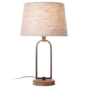 Lampa stołowa Sora ze stylowym kloszem tekstylnym