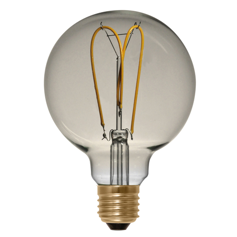 E27 4W 922 LED Globe G125 Curved Line zlatá