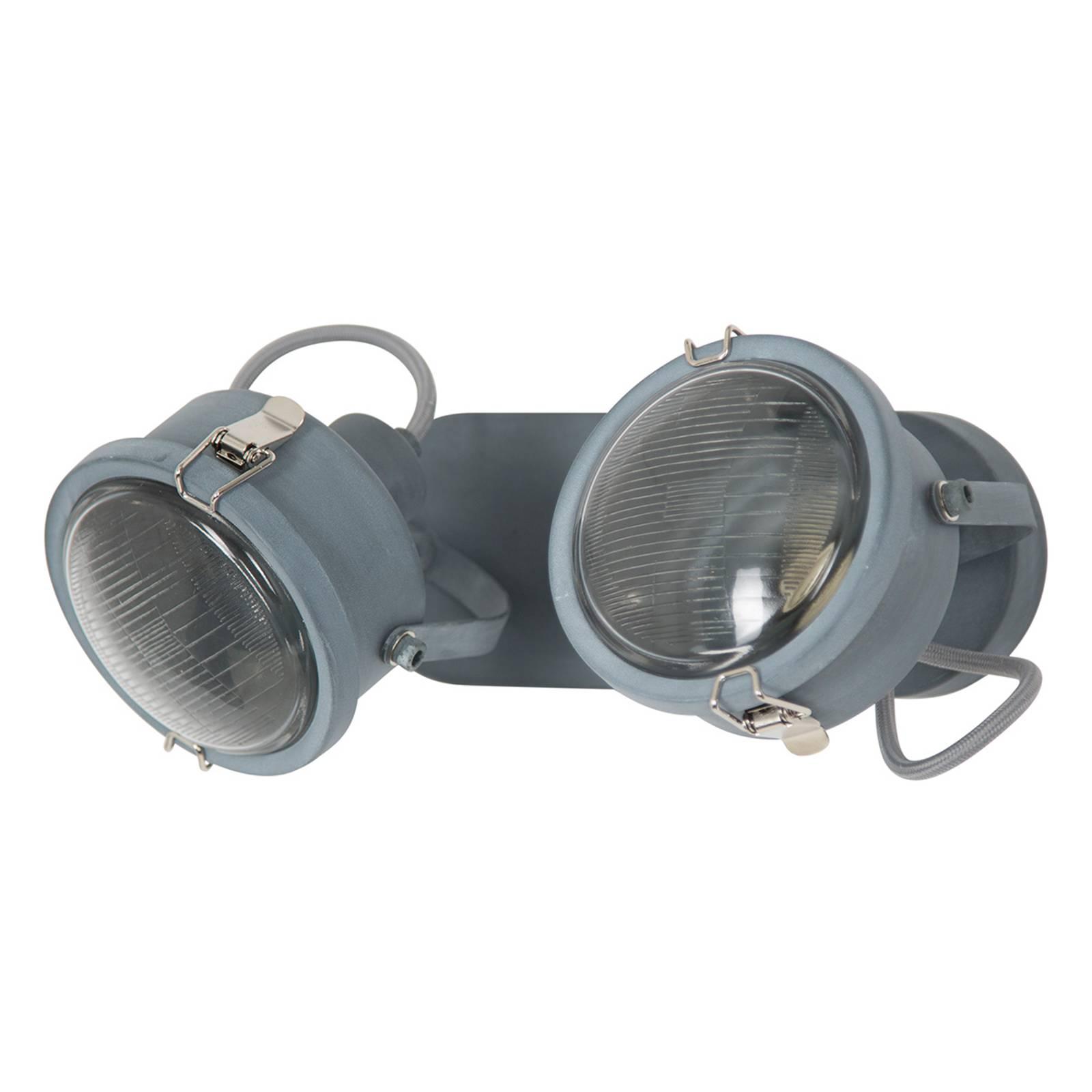 Wandlamp Satellite in grijs, 2-lamps