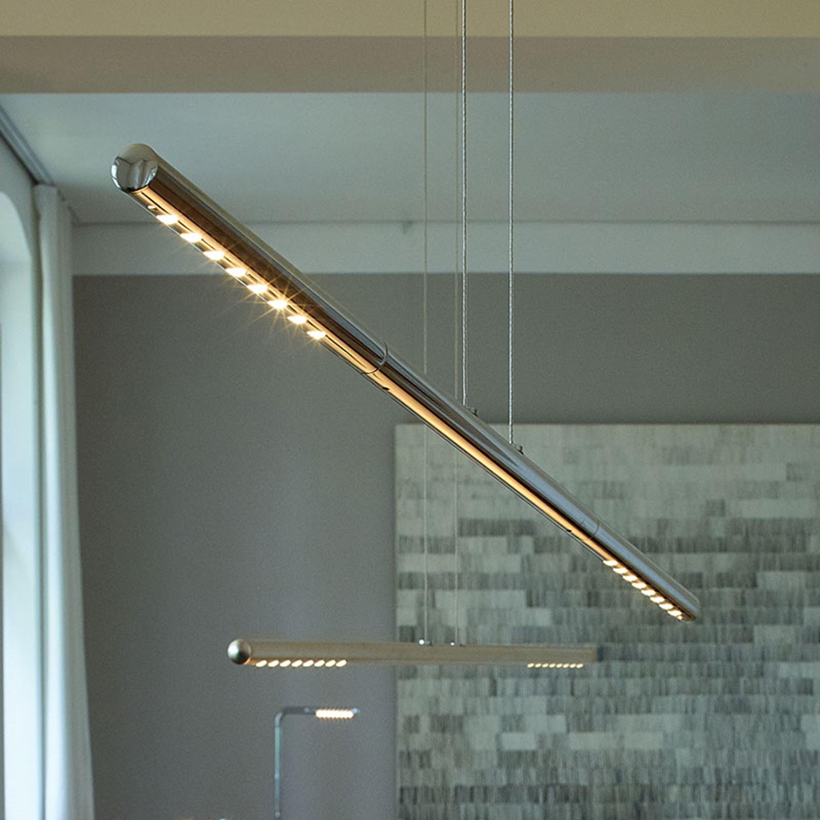 TECNOLUMEN LUM S lampa wisząca, 85 cm, chromowa
