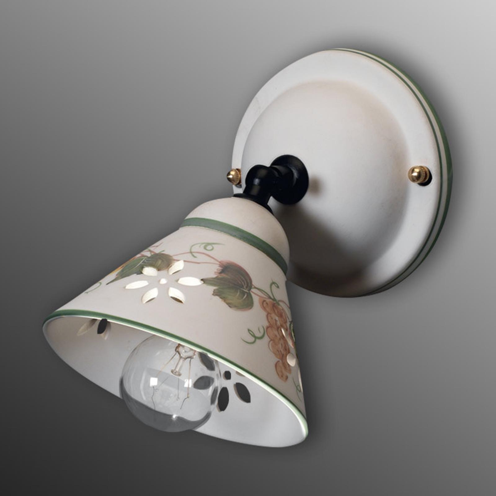 Vegglampe Vigna av keramikk