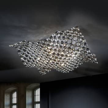 Plafón Saten de cristal, 56 cm