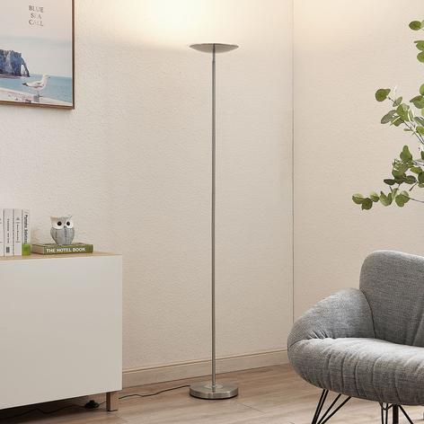 Lindby Hayley lámpara de pie LED, 1 luz, cromo
