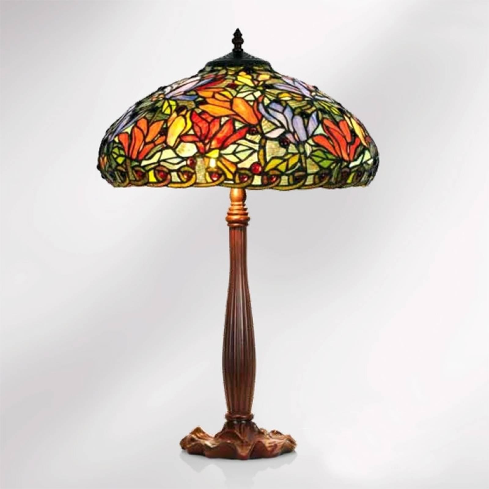 Tafellamp Elaine bloemrijke Tiffany-stijl 64 cm