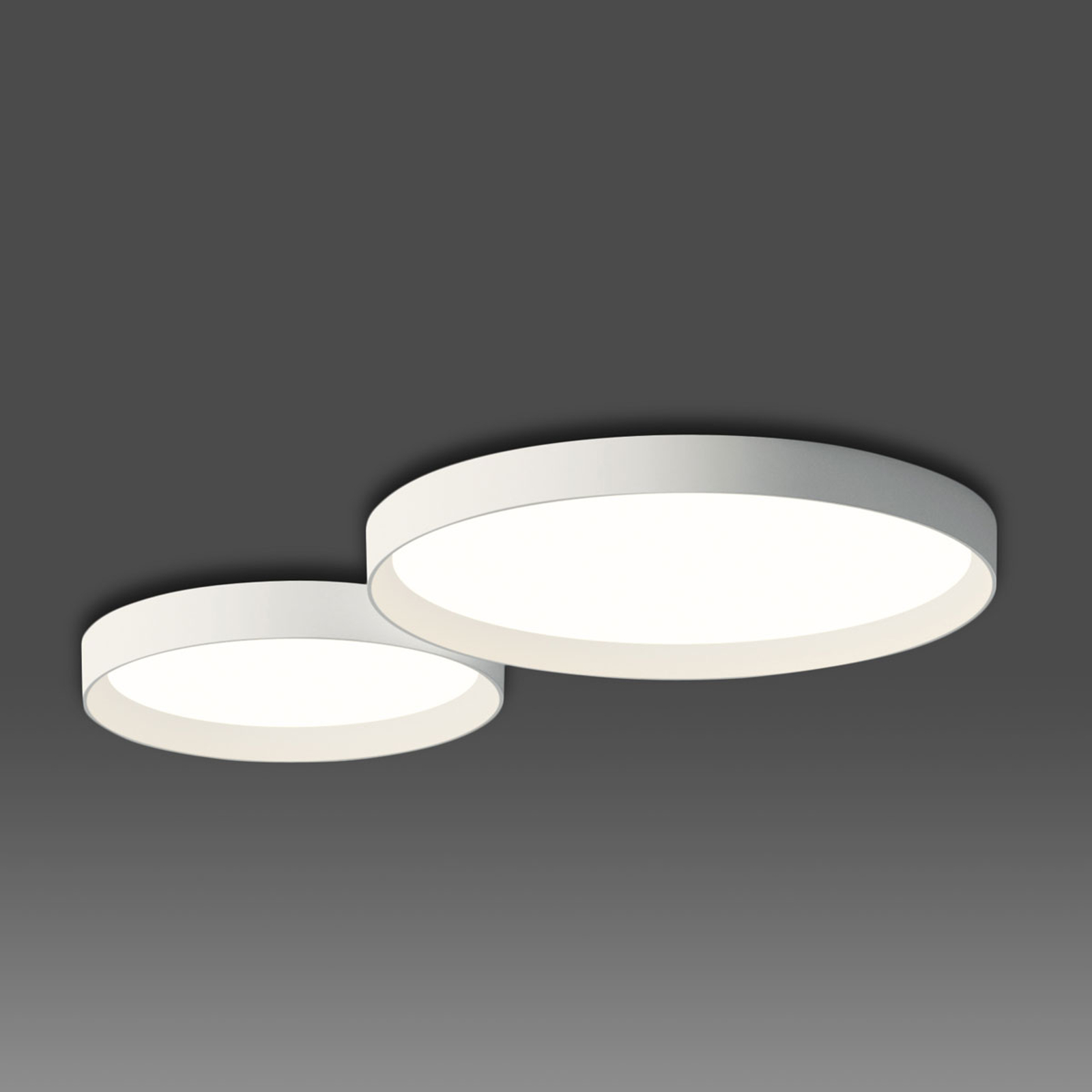 Prosta lampa sufitowa LED UP, biała