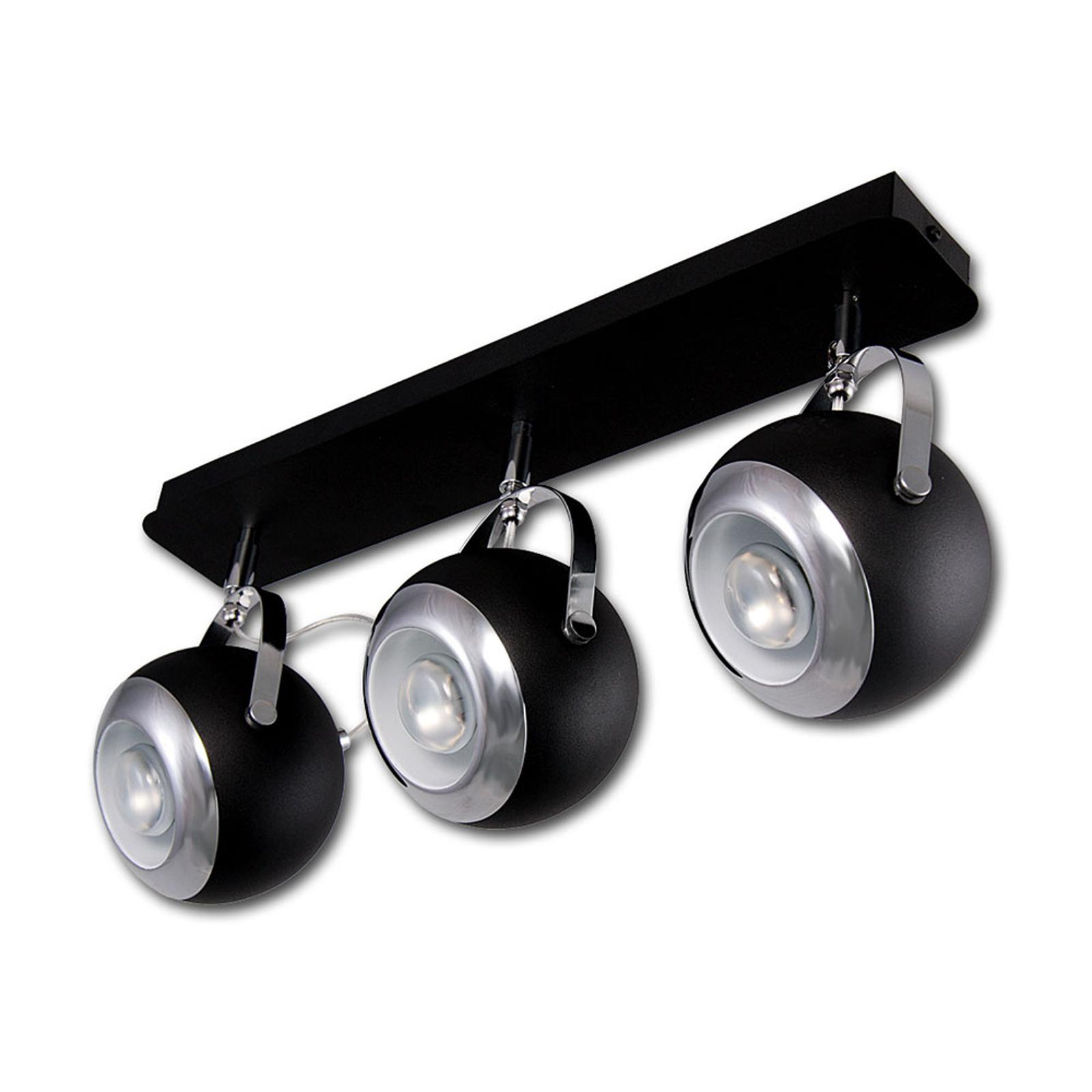 Scotti taklampe 3 lyskilder lang, svart
