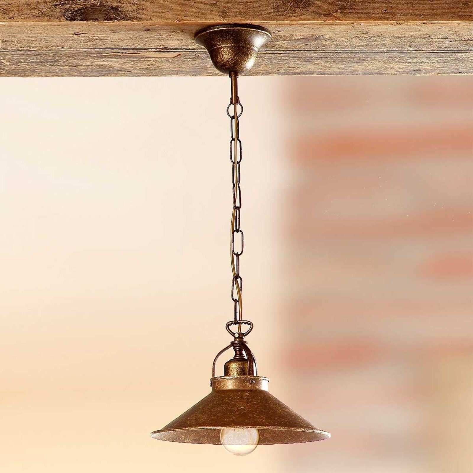 Rustikální závěsné světlo BRUNO 25 cm